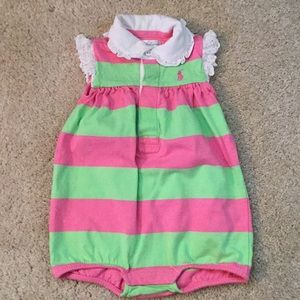 Ralph Lauren girls romper 6m